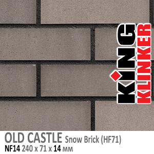 OLD CASTLE NF14 Snow Brick (HF71)