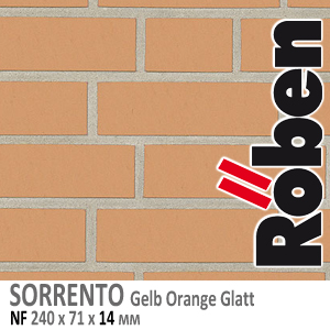 NF14 SORRENTO Gelb Orange Glatt