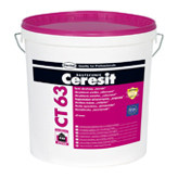 Акриловая штукатурка «короед» Ceresit CT 63/CT 64