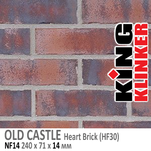 OLD CASTLE NF14 Heart Brick (HF30)