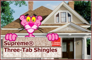 Supreme® Three-Tab Shingles