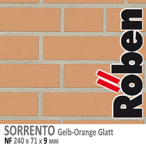 NF9 SORRENTO Gelb-Orange Glatt