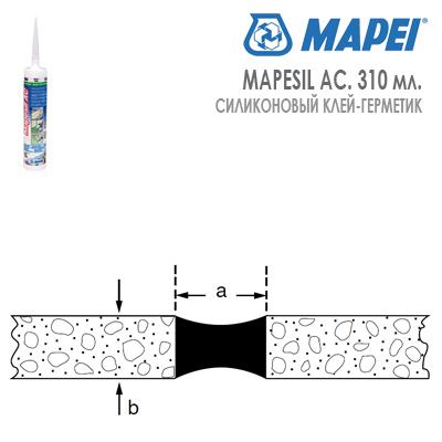 расход силиконового герметика MAPESIL AC