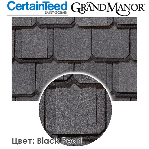 CertainTeed Grand Manor цвет Black Pearl