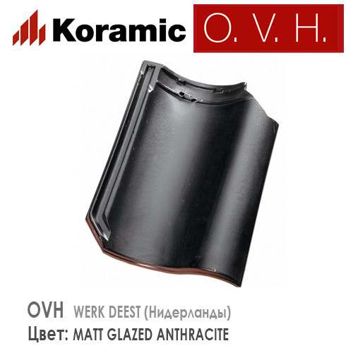 KORAMIC OVH Matt Anthracite Glazed