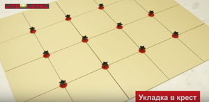 Способ установки в крест Многоразовая система выравнивания плитки Litolevel: купить в москве на roof-n-roll.ru