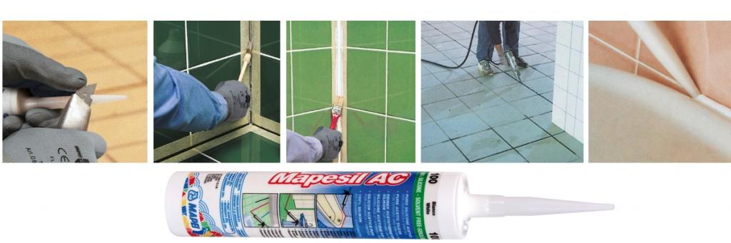 Mapei MAPESIL AC купить Мапей Мапесил АС силиконовый цветной герметик для швов цена