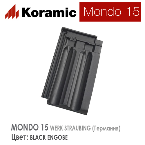 KORAMIC MONDO 15 Black Engobe