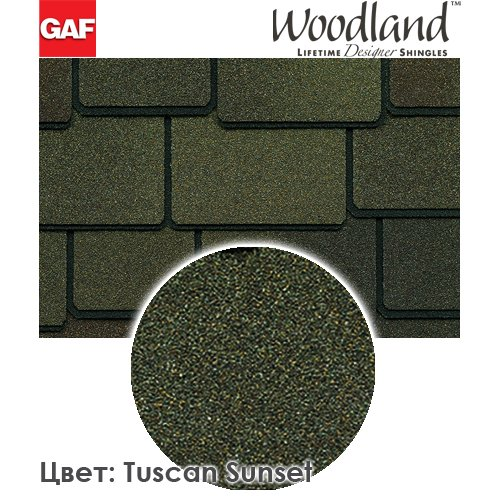 GAF WoodLand Tuscan Sunset кровля